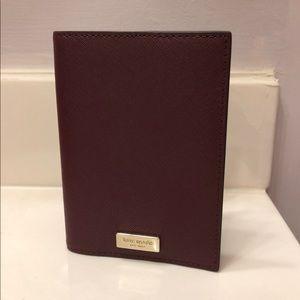 Kate Spade Leather Passport Holder (Cherrywood)
